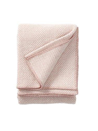 Klippan Domino Classic Wolldecken in Pink, 180x 130x 0,5cm