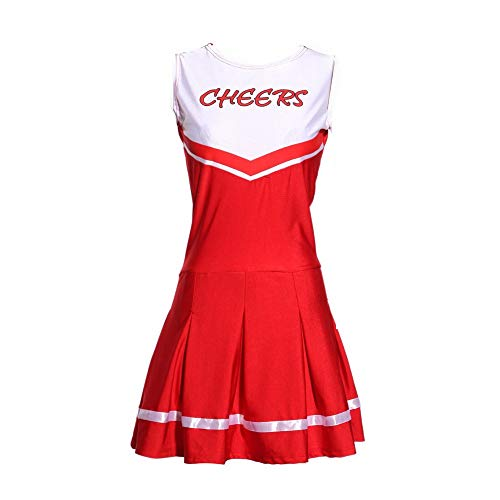 MCO%SISTSR Cheerleader-Kostüm,Musik-Kleidungssportwettbewerbs-Tanzleistung des Mädchens Cheerleaderuniform Runder ()