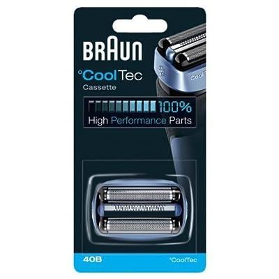 Braun CoolTech 40B - replacement foil and cutter - blue by Braun GmbH