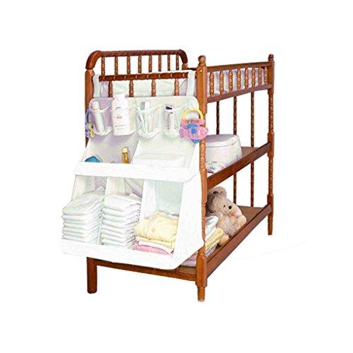 Arichtop Baby wasserdicht Windeln Organizer Newborn Nursery Bedside Bed Aufbewahrungstasche Infant Krippe Wiege Kleidung Container-Halter