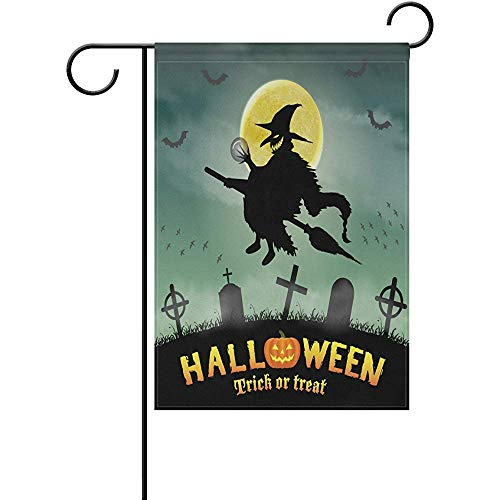 ary Halloween Witch Decorative Garden Flagge Banner Polyester Double Sided Welcome Flagge Seasonal Indoor Outdoor 12