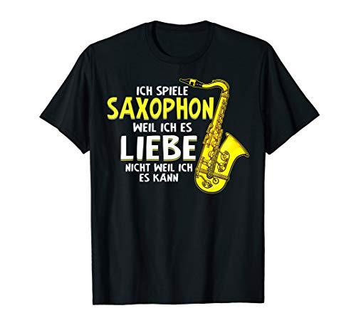 Saxophon Saxophonist Instrument T-shirt Geschenk Lustig