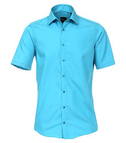Venti Herren Businesshemd 001620, Türkis (Aqua 159), 39 (Herstellergröße: M) (Aqua-hemd)