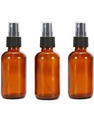 Anself 3 x 50ml Kosmetik Zerstäuber Beauty Glas Sprühflasche für Reisen Amber Farbe