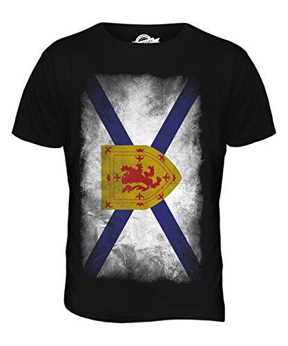 CandyMix Nova Scotia Verblichen Flagge Herren T Shirt Schwarz