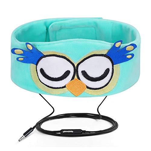 Verdrahtete Kinderkopfhörer Ultra dünne Lautsprecher-einfache justierbare weiche Vlies-Stirnband-Kopfhörer für Kinder Eule