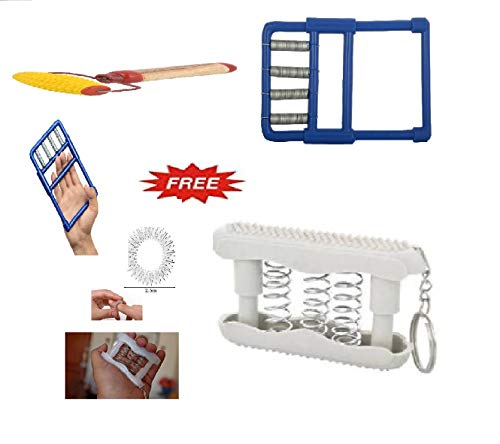 ACS055 Hand Exerciser Combo Kit & Acupressure Roller Finger Massager Ring Spring