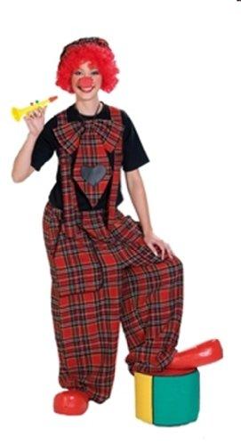 Konfetti Modelle Rubies 1 4231 S - Clochard Unisex Latzhose Größe (Karierte Hose Kostüm)
