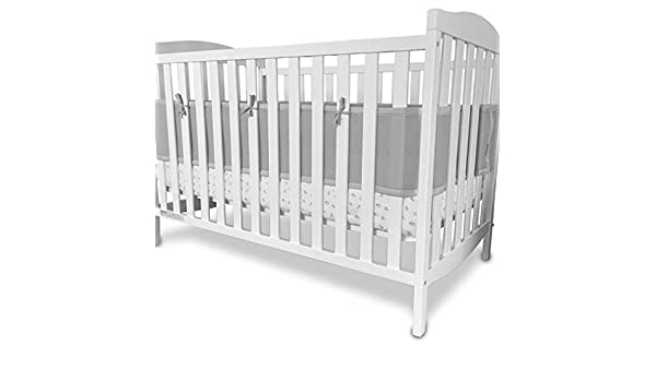 Cotbed Liner Bumper Breathable Baby Airflow Mesh Baby 2 4 Sided Crib Cot