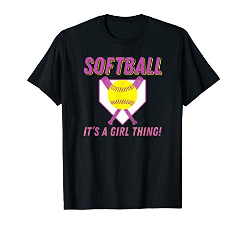 Softball It's A Girl Thing Funny Fastpitch T-Shirt -