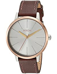 Nixon Women's 'Kensington' Quartz Stainless Steel and Leather Casual Watch Color:Brown (Model: A1082632-00)