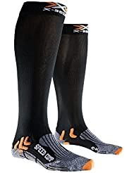 X-Socks Speed Comp–Calcetines de running/Trail, color Negro - negro, tamaño FR : chaussettes : 43-46 (Taille Fabricant : 3)