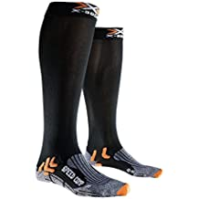 X-Socks Speed Comp – Calcetines de Running/Trail, Color Negro - Negro