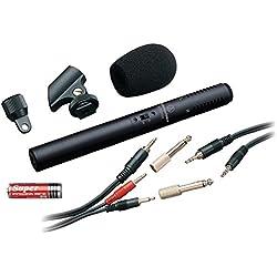 Audio-Technica ATR-6250 - Micrófono de condensador (para voz, stéreo), color negro