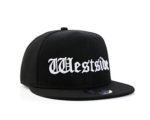 Eastside VS Westside Hip Hop schwarz Snapback Baseball Cap von True Heads (WESTSIDE)