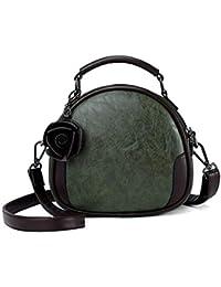 bca2c264031d8 Haiwan Trendy Blume Umhängetasche Damen Lässig Shopper Messenger Bag  Vintage Wild Handtasche PU Leder Wasserfest…
