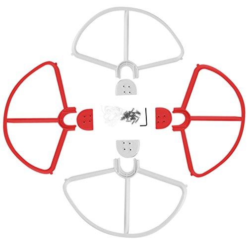 Hélices Amovible Prop Protecteurs Garde Pare-chocs pour Phantom 3 Rouge Blanc
