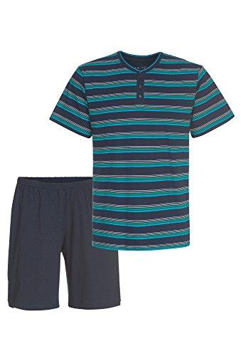 Smith Herren Pyjama kurz dunkelblau-grün,S