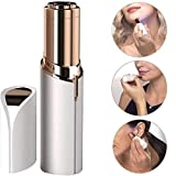 Flawless Women's Portable Safe Battery Operated Painless Electric Eyebrow Trimmer Facial Hair Remover, Rose Gold