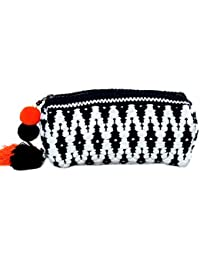 Diwaah Handcrafted Embroidered Rug Zip Top Bag (DWH000001028)
