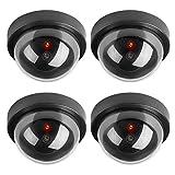 TOROTON Runden 4 Stücke Dummy Kamera Set Fake Camera CCTV mit LED Licht Überwachung Kamera Sicherheitskamera