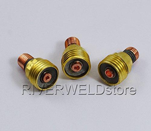 WIG Gaslinse Gasdüsen Spannhülsen Verschiedene Größe Fit WP-9 WP-20 WP-25 WIG-Schweißbrenner 9pcs - 3