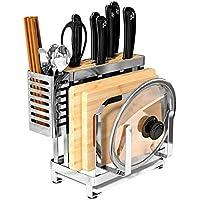 Estante de plato con escurridor extraíble cuchillo almacenamiento Pot tapa  tenedor tenedores cuchara Junta de corte 68570e3bee08