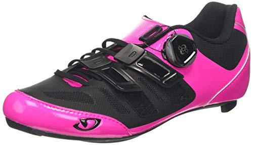 Giro Damen Raes Techlace Road Radsportschuhe - Rennrad, Mehrfarbig (Bright Pink/Black 000), 39 EU