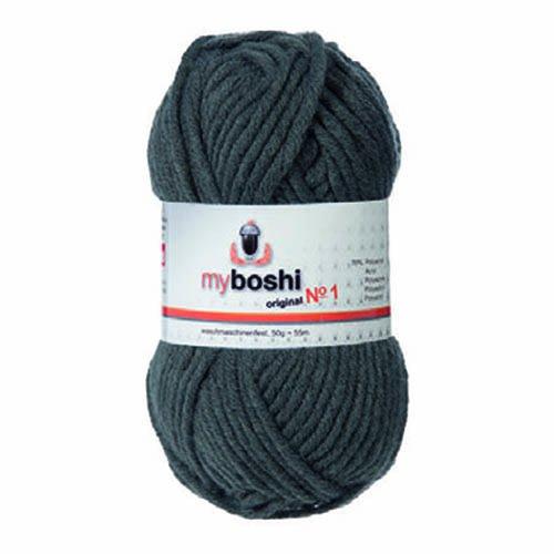 50g myboshi original No.1 Wolle Fb.195 anthrazit