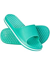 Mountain Warehouse Girls Sliders - Lightweight Kids Sandals, EVA Footbed Kids Shoes, Breathable, Slip On Summer Footwear - for Walking, Travelling & Daily Commute