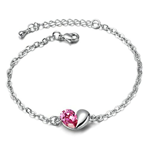 adisaer-plaque-or-bracelet-femme-or-blanc-bracelets-charms-coeur-damour-rose-rouge-zirconium-17cm