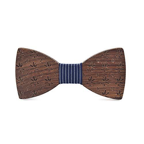 ZSRHH-Neckchiefs Halstücher Herren Frauen Holz Holz Fliege Oberfläche Geprägte Kleine Blatt Geschenk Geburtstag Taschentuch Klassische Handgemachte (Farbe : Blau, Größe : 5 * 9.5cm) - Kleine Handgemachte Schal