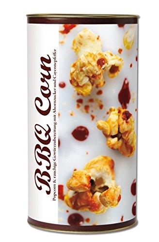 Gourmet Popcorn zum Selber-Backen, für den Grill-Abend,rauchiges, süßsalziges, scharfes Popcorn, mit Ahornzucker und Chilies, Raffinierte Geschenk-Idee, frisch-duftend, auch als Party-Snack BBQ Corn von Feuer & Glas 311g (Mischung Mais Leckere)