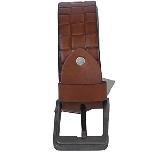 VIBHAN CHARLIE Exclusive 100% Genuine Leather Brown COLOR Designer look Casual and Party Belt for Men and Boys -Pure Leather-Best for Gifting