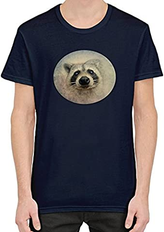 Cute Raccoon Face T-Shirt Homme XX-Large