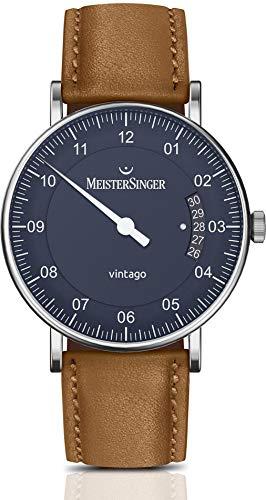 MeisterSinger Vintago VT908 Reloj automático con sólo una aguja