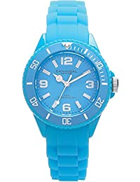 Cannibal Kid's Quartz Watch with Turquoise Dial Analogue Display and Turquoise Silicone Strap CK215-13