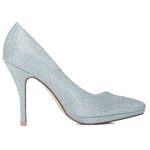 Talon white Clignotant Pointue L En 0255 Dos Haut Cuir Nuit 24 Femmes Plate La De Forme YC à MariéE Chaussures Hwzqt