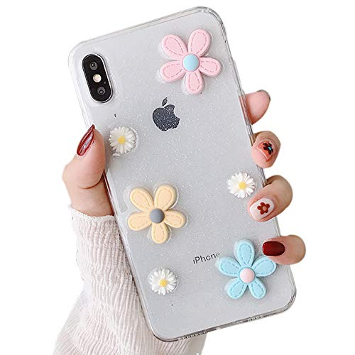 Transparent Convex Light (Meezzy Case for iPhone XR XS Max Flower Design Clear Shock Absorption TPU Soft Case Compatible with Ip6/6s/7/8/X/Xs/XR/Xs Max (iPhone XS Max))