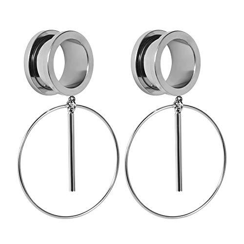COOEAR Ohr Plug Tunnel Gauge Bahre Piercing Ring Design Anhänger Edelstahl Schraube 0G