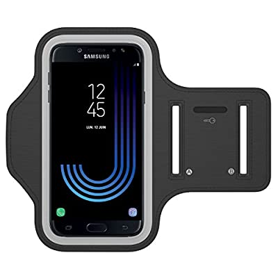 MiSha Brassard Sport pour Samsung Galaxy J7 (2017), Bande réfléchissante, Anti-Sueur, Étanche, Idéal pour Fitness, Trek, Jogging, Marche, Cyclisme, Randonnée de Misha