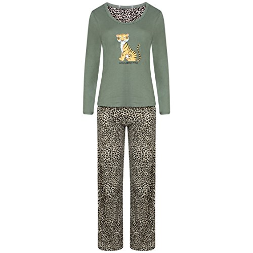 Ex Famous Store Damen Schlafanzug Mehrfarbig Mehrfarbig Mehrfarbig - Khaki