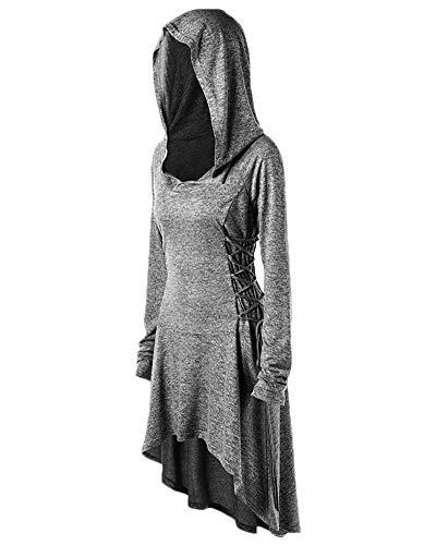 DianShaoA Frauen Tuxedo Gothic Frack Steampunk Mit Kapuze Viktorianischen Mantel Hochzeit Uniform...