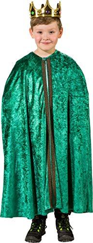 Unbekannt Kinder Kostüm Heilige DREI Könige Umhang Weihnachten Fasching Karneval (grün)