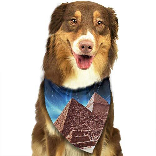 Hipiyoled Niedliche lustige Haustier-Schal-Pyramiden von Ägypten Adjustbale Haustier-Bandanas-Kragen-Dreieck-Halstuch