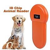Tier-ID-Reader, VBESTLIFE 134.2khz Tragbarer RFID-Chip-Handleser-Handmarke-Scanner mit LCD-Anzeige