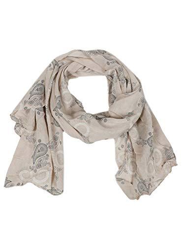 Cashmere Dreams Seiden-Tuch mit Paisley Muster - Hochwertiger Schal für Damen Mädchen - Halstuch - Umschlagstuch - Loop - weicher Schlauchschal für Sommer Herbst und Winter Zwillingsherz - crm -