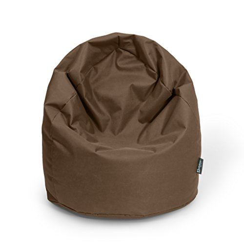 BuBiBag Sitzsack Tropfenform Beanbag Sitzkissen für In & Outdoor XL 300 Liter bis XXXL 470L mit Styropor Füllung in 23 versch. Farben (XXL Ca. H : 115cm - Dm : 70cm ca. 420 Liter, braun)