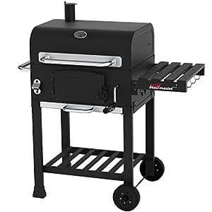 Broil-master Barbecue BBQ griglia carbone carbonella su ruote con griglia extra grande 55 x 42 cm