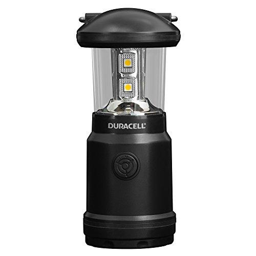 Duracell Taschenlampe, Explorer-Laternen-Serie Laternen-Taschenlampe, 90 Lumen, LED-Licht, Schwarze Kunststoffoberfläche, mit Duracell Batterien